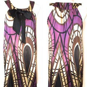 Glam royal neck dress, Sz medium